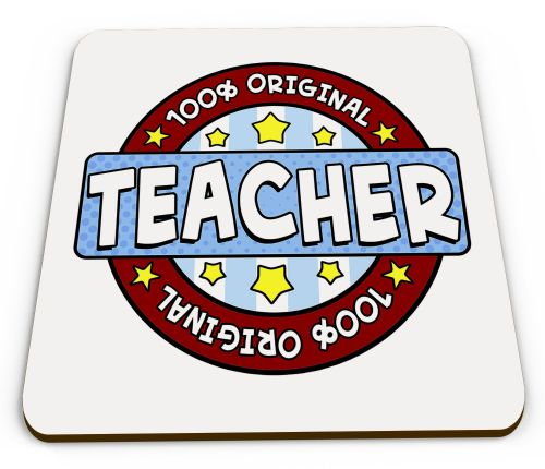 100% Original Teacher Glossy Mug Coaster - Blue